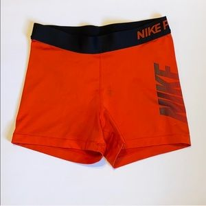 Nike Pro red compression shorts, medium